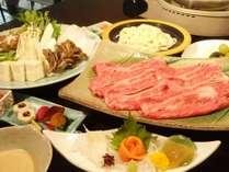 【福島県産牛しゃぶしゃぶ】素材本来の味をシンプルに楽しめます。