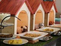 わんちゃんごはんは日替わり4種とデザート、ヤギミルクと抱負な種類をご用意しています。