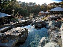 【ガーデンスパ・屋外滝風呂】ご家族・グループ・カップルでお楽しみいただけます。