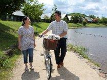【レンタル自転車】自然豊かなエンゼルフォレストでサイクリングをお楽しみください。