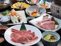 【山膳PLAN(夏)】2種のブランド肉を召し上がれ♪「山形牛しゃぶしゃぶ」「あつみ産桜美豚陶板焼」付!