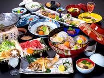 【お料理ランクUP】旬の味覚と贅沢食材を堪能!季節の華やぎ会席
