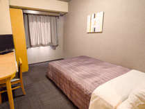 ◆一人旅の定番シングルルーム(約11平米)です。全室広々セミダブルベッドを設置!