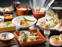 季節の和会席料理で旬のお味をお届けします。 秋の一例