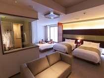 【和洋室 type-A】50平米の広いお部屋でごゆっくりとお寛ぎ頂けます