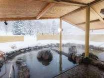 水着で入れる露天岩風呂[キロロタウン]