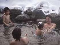 水着で入れる露天岩風呂