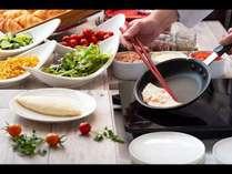 朝食 ホワイトオムレツ1