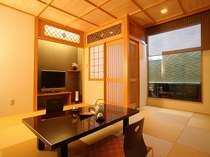 露天風呂付客室(露天風呂からは空が見えます(一例))