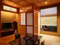 露天風呂付客室(近代和風調に完成されたお部屋です。)