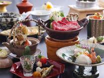 三田牛と松茸の会席(一例)