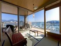 焼津漁港と駿河湾を望む 海の恵み客室「銭洲(ぜにす)」 一例