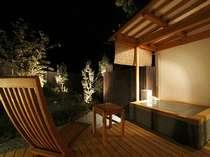 月夜を眺め入る露天風呂は最高の贅沢!みなと庵 客室温泉露天風呂 例