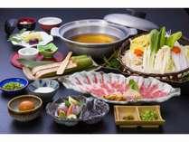 【桜さつま鍋】黒豚しゃぶしゃぶと薩摩鶏のつみれ鍋