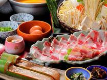 【桜さつま鍋】地元食材を使用したアツアツお鍋☆すき焼き風orゆず胡椒で召し上がれ