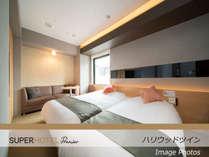 【ハリウッドツイン】眠りを追及したワイドベッド2台で贅沢なひと時を!