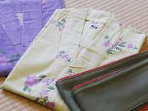 【山桜の間】【桔梗の間】特別室限定のお浴衣をご用意しております。