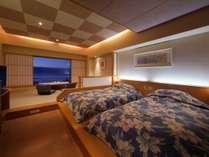 デザインルーム(ツインベッド+4畳),夜景