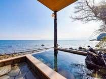 *【お部屋一例(大和)】海を一望できる露天風呂付きのお部屋は大和だけ♪