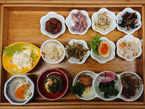 【朝食一例】朝食は併設のレストラン「韓国苑」にて海を眺めながらお楽しみください♪