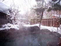 *露天風呂/冬は静けさの中で雪見風呂をお楽しみいただけます
