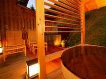 露天風呂付客室 檜風呂