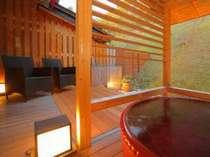 露天風呂付客室 陶器風呂