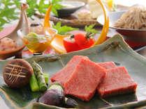 満足の声♪夕食は贅沢に●とちぎ和牛の【最高級A5ランク】ブランド肉つき里山会席●陶板焼でアツアツを!