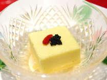 夏のお料理例 とうもろこし豆腐