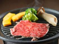 御料理例 栃木のお肉を陶板焼きでどうぞ