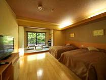 【最上階モダン和洋室】(洋室ツイン+6畳)各お部屋タイプが異なります。
