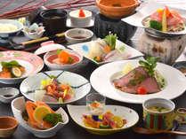 大人のご夕食『里山和食膳』素材を活かしたお料理10品をご堪能くださいませ。