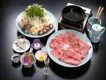 和歌山ブランド牛熊野牛を使用した贅沢な「すきやき」