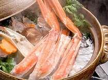 じゃらん限定 ■カニ鍋・ズワイガニ・舟盛■ シメは雑炊♪カニスキ鍋&平目舟盛&ズワイガニ+彩り和会席