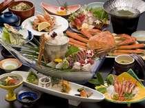 【グルメ】4種の調理でカニ満喫♪ズワイガニ味覚会席 お料理一例