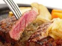 ビーフステーキ 海鮮も良いけどやっぱりお肉も美味しいですよねぇ♪(盛り付け一例)