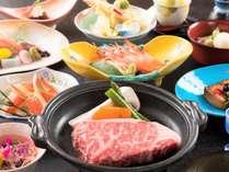 会席お料理イメージお肉も蟹もついてます♪