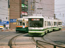 【広電】当館から広電西広島駅へは徒歩2分!宮島口へも1本でいけますよ。