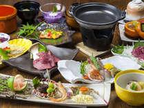 ★【会席料理 松】地産地消を目標に、旬の素材をふんだんに使用した料理長自慢の会席料理。
