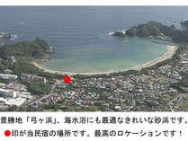 上空から見た弓ヶ浜