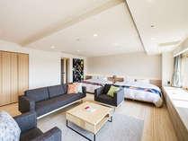 2018年リニューアルオープン☆マリメッコ空間の広々とした客室(69㎡)