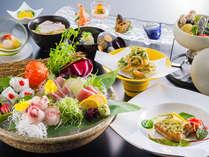 【6~8月季節会席イメージ】季節の食材を使用し、一品一品丁寧に仕上げております。