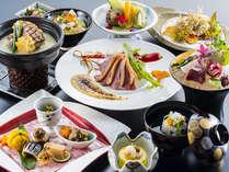 【9~11月季節会席イメージ】季節の食材を使用し、一品一品丁寧に仕上げております。