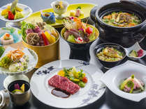 【3~5月愛媛会席イメージ】愛媛産の食材を多く使用した懐石料理をご堪能ください。