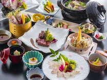 【6~8月愛媛会席イメージ】愛媛産の食材を多く使用した懐石料理をご堪能ください。