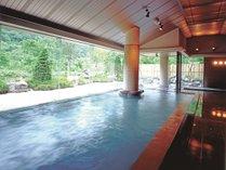 大きなお風呂で『ゆびそ温泉』を満喫してください♪