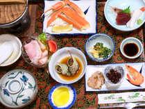 *夕食一例/目の前が漁港!漁師町ならではの磯料理をお楽しみください。