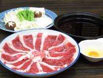 信州牛のすき焼き(写真は2人前)