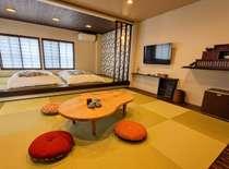 ■本館2階 特別室201『紅葉笠』 お連れ様とゆったり贅沢な時間をお過ごしいただけます。