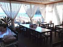 「1F食堂」 外は大瀬海岸・海水浴場があり、大瀬岬と富士山の景色もご覧になれます。